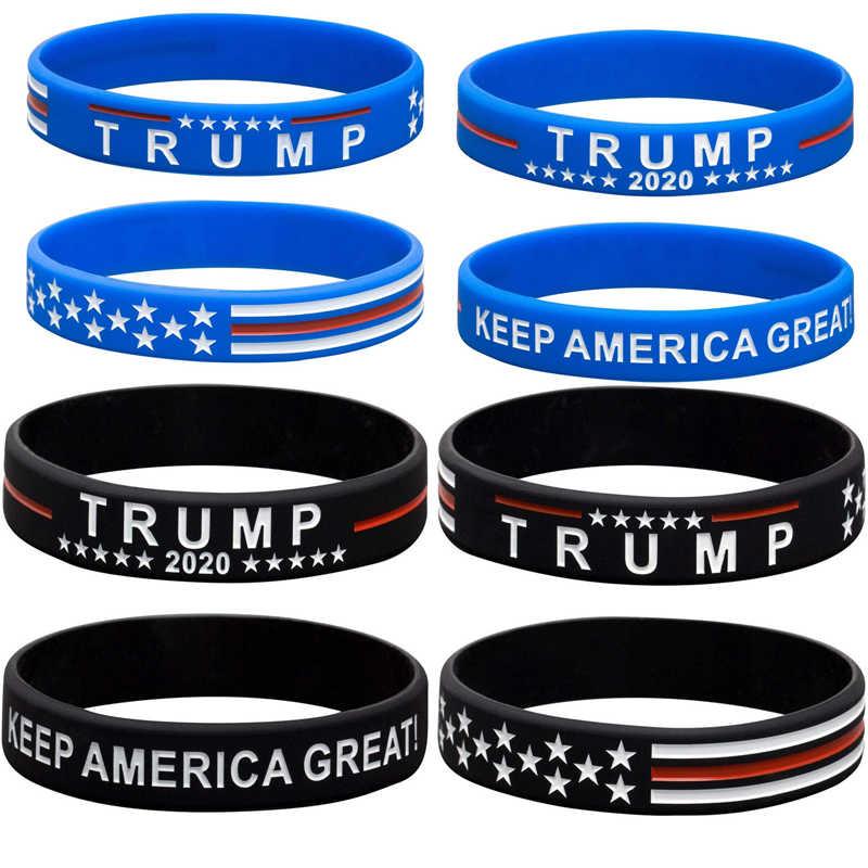 2 יח'\סט טראמפ לשמור אמריקה נהדר 2020 סיליקון להקת יד צמיד צמיד