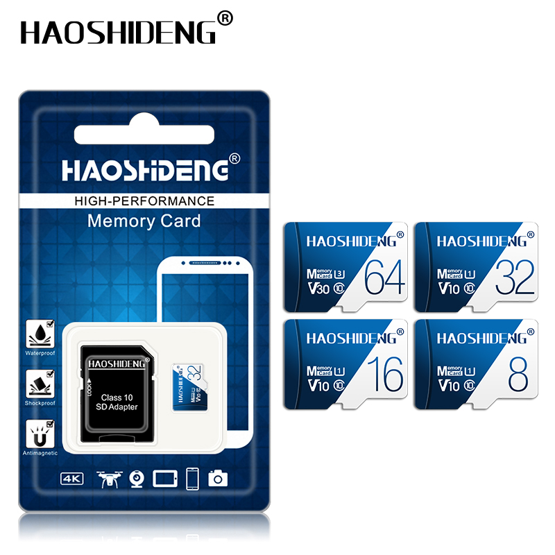 High quality micro sd card 32gb 64gb 128gb Class 10 cartao de memoria 8GB 16GB micro drive mini Memory card TF card flash map-in Micro SD Cards from Computer & Office