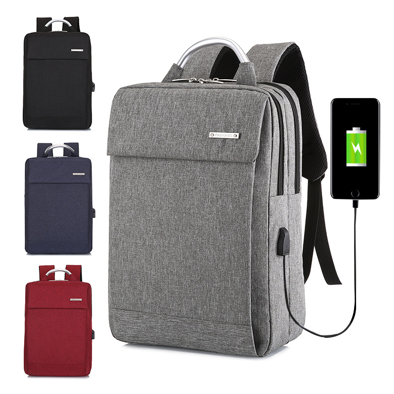 Anti-theft Men Laptop Rucksack Travel Backpack Women Large Capacity Business USB Charge College Student School Backpack image