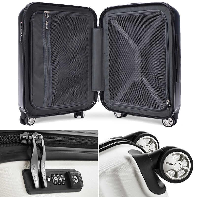 100% PC 20''24/28 zoll reisetasche auf rädern koffer roll trolley gepäck kabine carry-ons gepäck tasche Frauen mode koffer