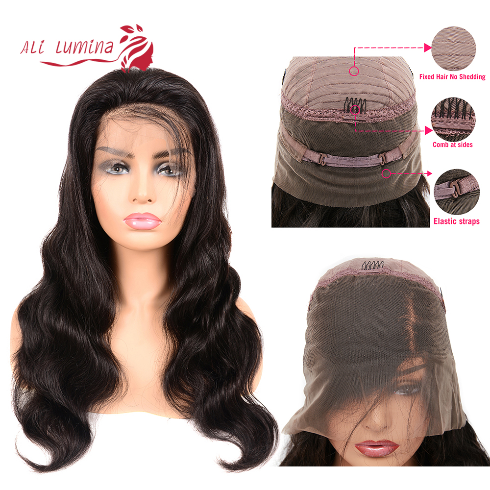 Ali Lumina 360 Lace Front Wig Body Wave Remy Hair Wig With Lace Front Brazilian Pre-Plucked Hair Line Wig