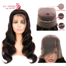 Ali Lumina 360 Lace Front Wig Body Wave Remy Hair With Brazilian Pre-Plucked Line
