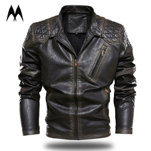 Jacket Motorcycle Clothing Winter New Thick Patchwork Argyle Coat Men High-Quality