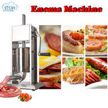 цена на 3-7L Stainless Steel Sausage Stuffer Machine 4 Funnel Size Manual Meat Vegetable Grinder Sausage Stuffing Syringe Making Machine