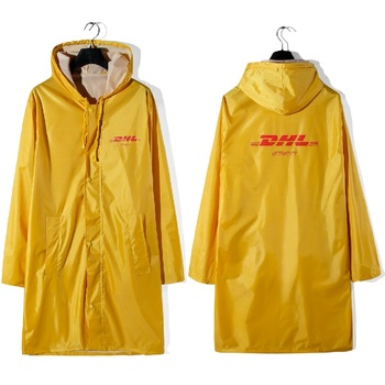 DHL Vetements Jacket Men Oversized Raincoat Streetwear Coats Waterproof Windbreaker Vetements Bomber Orange Jacket цена 2017
