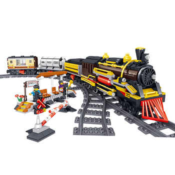 Technic City Posende Steam Train With Motor Technic City Electric Train Building Block Brick Toy Gift For Children