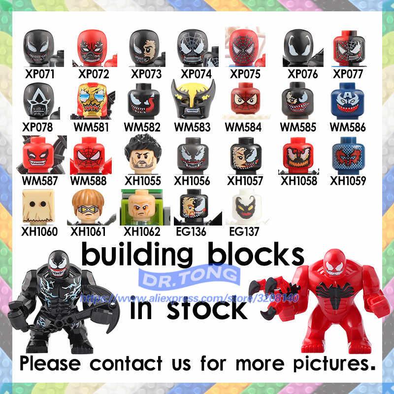 Single Sale Marvel Super Hero figures Anti Venom Spider Man Venom Figures collection Building Blocks Set Model Toys BR269