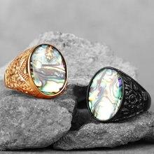Bagues en acier inoxydable pour hommes, perles, or, noir, Simple, mode, luxe, Unique pour homme, petit ami, bijoux, cadeau créatif, vente en gros