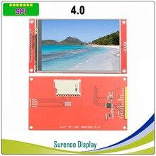 """4.0 """"นิ้ว 480*320 MCU SPI Serial TFT LCD โมดูลจอแสดงผล Touch Panel Build in driver ST7796S"""