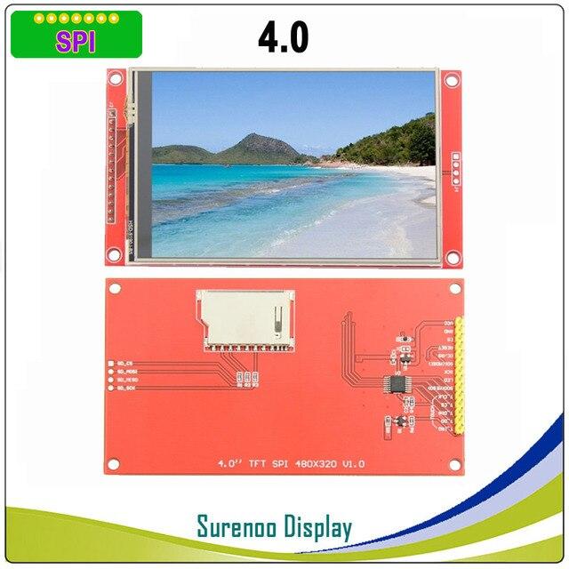 4,0 дюймовый 480*320 MCU SPI серийный TFT ЖК модуль экран с сенсорной панелью со встроенным драйвером ST7796S