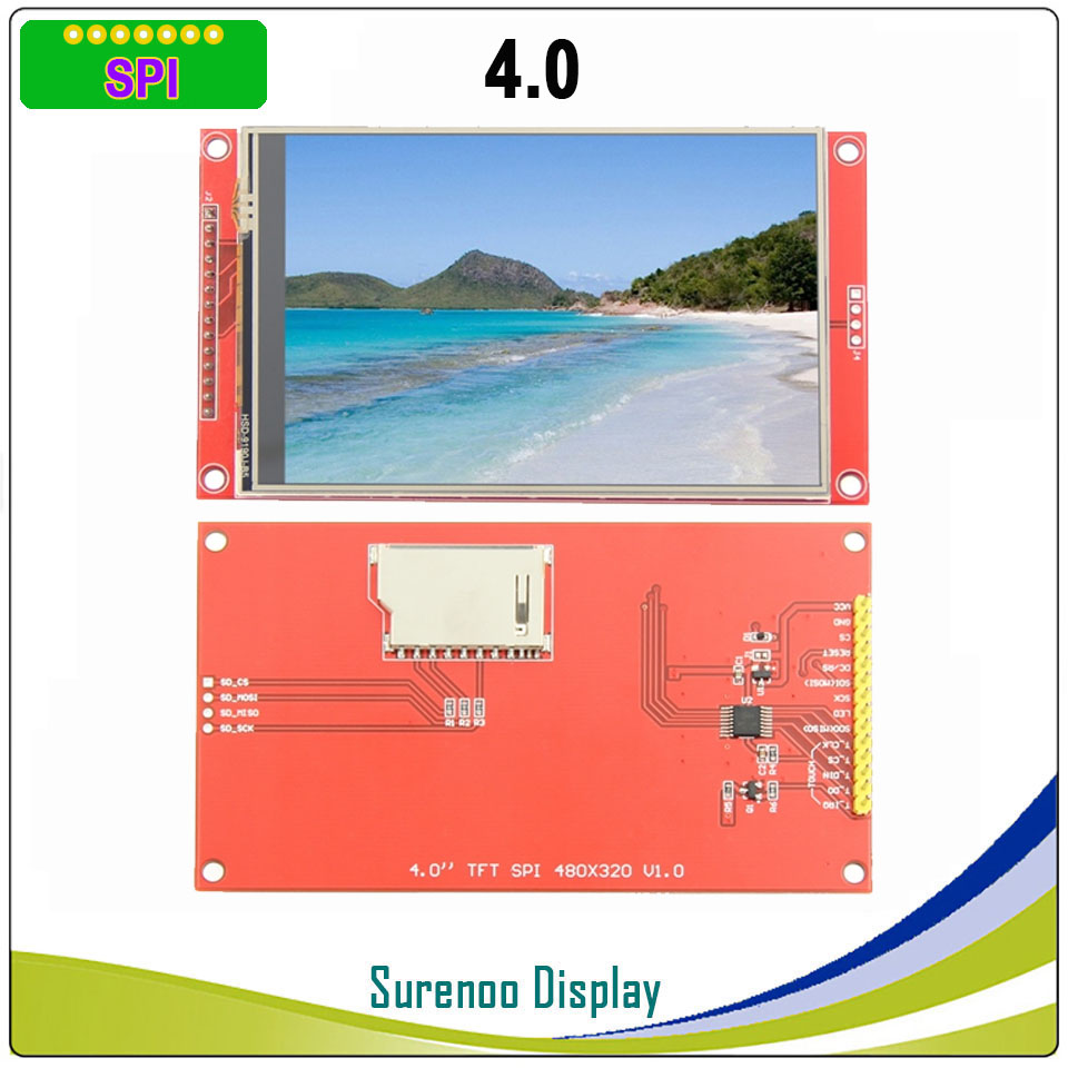 """4.0"""" Inch 480*320 MCU SPI Serial TFT LCD Module Display Screen With Touch Panel Build-in Driver ST7796S"""