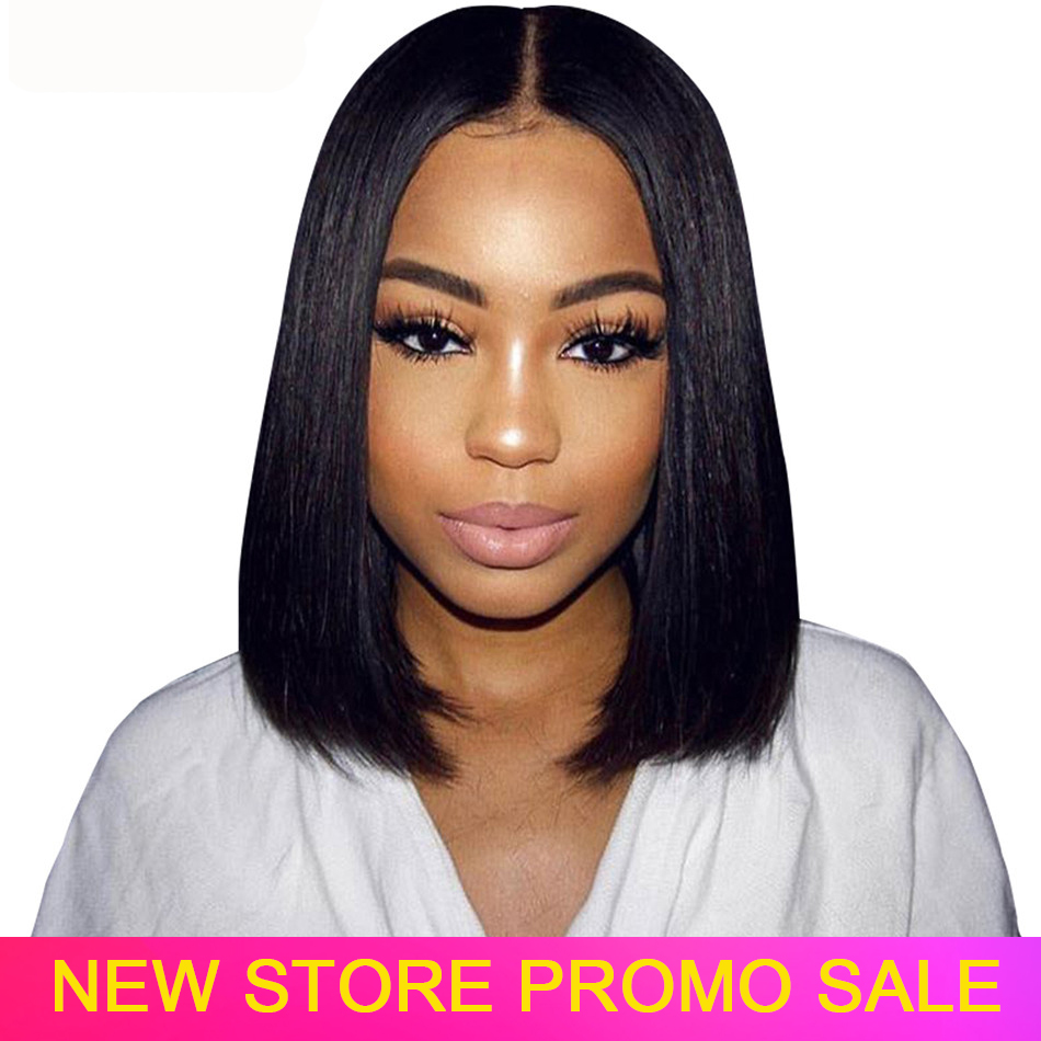 Bob Wig Human Hair Short Lace Front Human Hair Bob Wigs Virgo Pre Plucked Straight Wig 150% Indian Remy Hair Lace Frontal Wigs