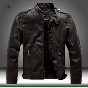 2020 New Men's Leather Jackets Autumn Casual Motorcycle PU Jacket Men Fleece Warm Biker Leather Coats Male Outwear Brand Clothes