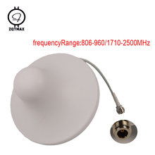 ZQTMAX 2G 3G 4G антенна 806 2500 МГц внутренняя потолочная антенна для сотового телефона усилитель сигнала UMTS LTE CDMA GSM повторитель