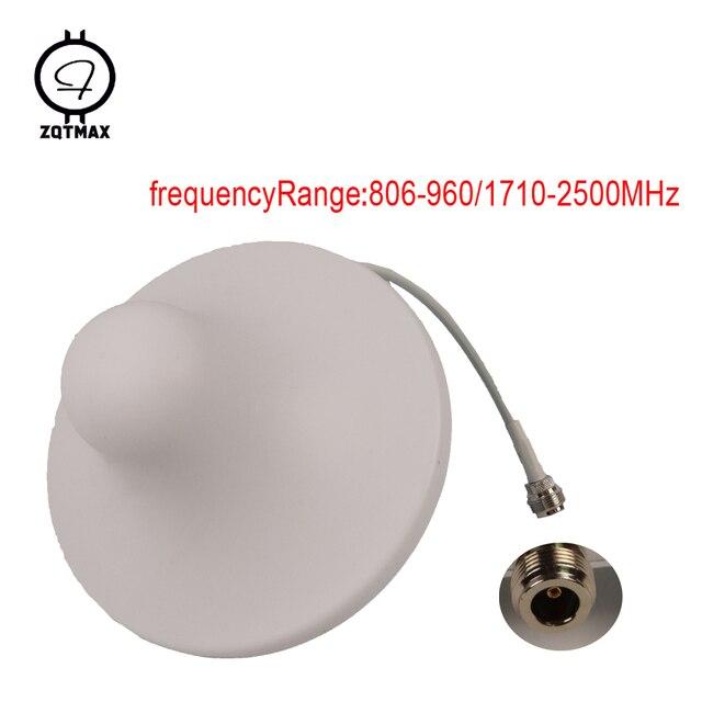 ZQTMAX 2G 3G 4G אנטנת 806 2500MHz מקורה תקרת פנימי אנטנה עבור טלפון סלולרי אות מאיץ UMTS LTE CDMA GSM משחזר