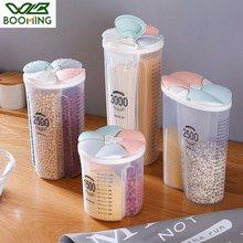 WBBOOMING plastik yaprakları kapaklı mutfak depolama mühürlü tankı farklı kapasite ve izgaralar koruma konteyner saklama kutuları
