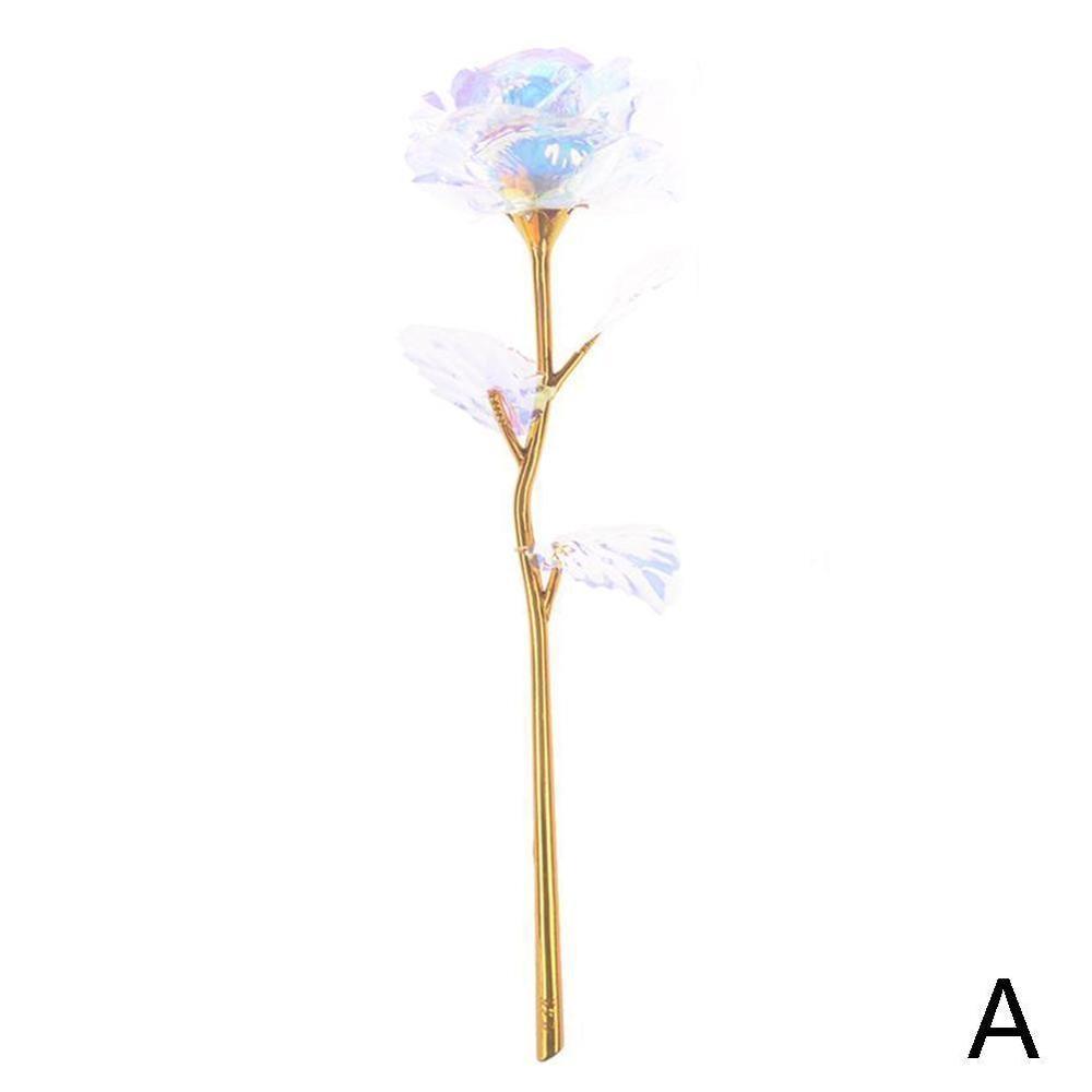 Дропшиппинг, креативный подарок на день Святого Валентина, 24 K, покрытая фольгой, розовая роза, длится навсегда, любовь, Свадебный декор, освещение для влюбленных, Роза - Цвет: A Golden rose