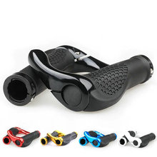 1Pair Cycling Handle Grip Bar End Durable Anti-slip Rubber Aluminum Alloy MTB Mountain road Bike Bicycle lock-on Handlebar Cover special offer top carbon handlebar road cycling mountain mtb bike bicycle lock on handlebar cover handle bar end