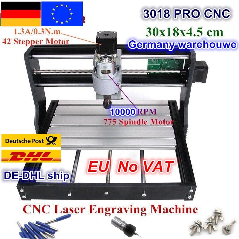 DE Free VAT CNC 3018 Pro GRBL Control 3 Axis DIY Mini Machine Pcb Pvc Laser Engraving Milling Machine Wood Router