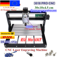 DE Free VAT CNC 3018 Pro GRBL Control 3 Axis DIY Mini Machine Pcb Pvc Laser Engraving Milling Machine Wood Router diy mini cnc milling machine ly 4040 full aluminum pcb engraving for metal 3 4 axis wood router 1 5kw 2 2kw 3 5kw
