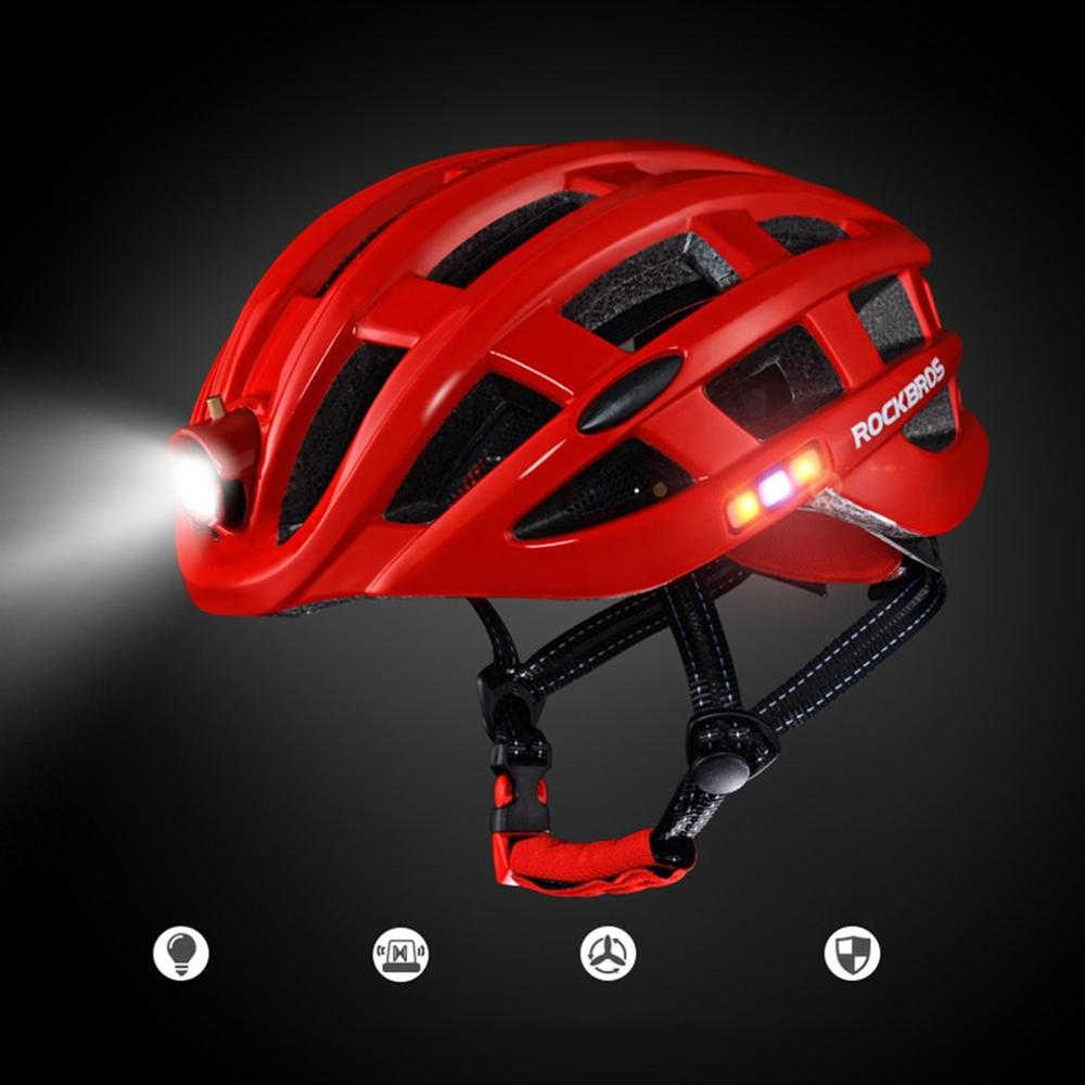 Helmet Bike Light Bicycle Mountain-Bike ROCKBROS Outdoor-Sports with Riding  title=