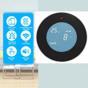 SmartYIBA APP control WiFi Wireless Gas Detector Alarm Sensor Gas Leakage Sensor Natural gas leak detector
