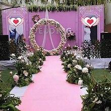 Розовый проход бегунов Свадебные аксессуары розовый проход ковровая дорожка коврики для шаг и повторить Дисплей, церемонии, праздников и мероприятий в помещении