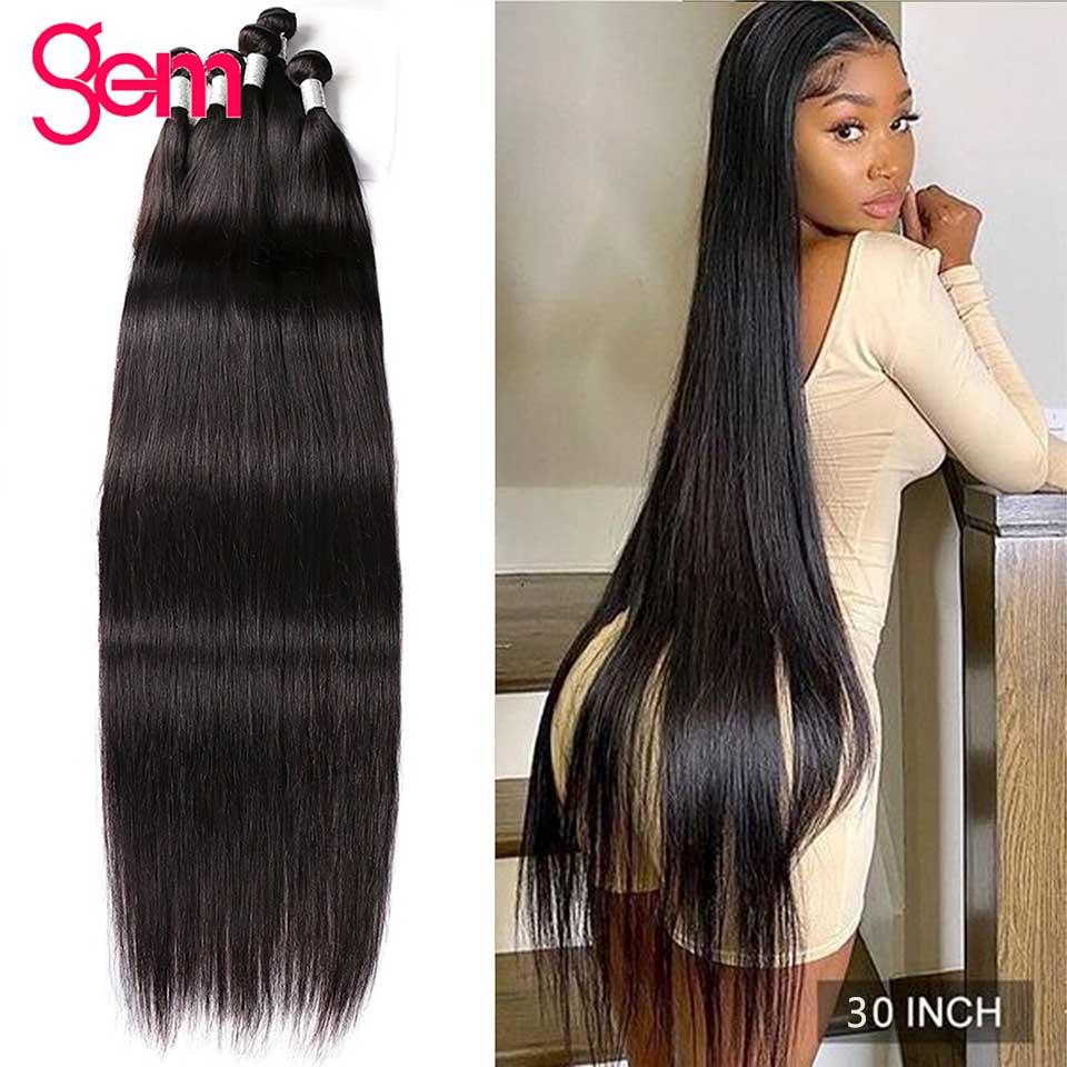 Recto mechones 30 pulgadas recto extensiones de cabello humano mechones hueso recto pelo mechones 1/ 3 ofertas de extensiones negro peruano de la extensión del pelo