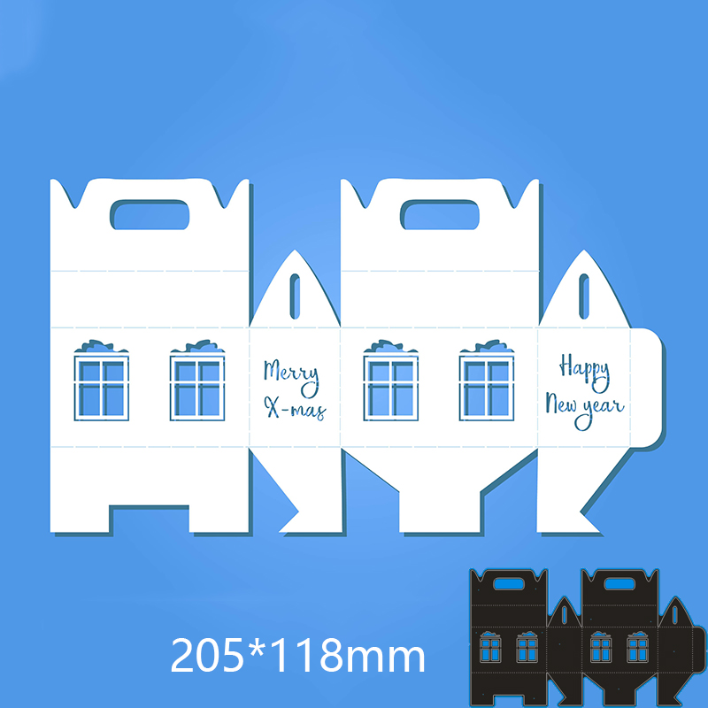 205*<font><b>118</b></font> mm lovely house box new Metal Cutting Dies for decor card DIY Scrapbooking stencil Paper Album template Dies image