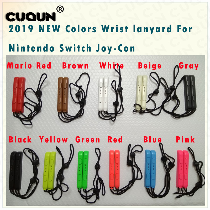 1Pair NEW Colors Switch Joy-Con Lanyard Wrist Strap Sling For Nintend Switch NS NX Joy-Con Wrist Hand Rope
