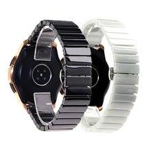 De moda blanco y negro de 16 18 20 22mm reloj ancho de banda para Huawei pulsera FITBIT Samsung las mujeres de los hombres de correa de reloj de pulsera