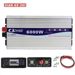 Car Inverter Pure Sine Wave 12V DC 12V To AC 220V Intelligent Voltage transformer 3000/4000/5000/6000W Solar Power Inverter