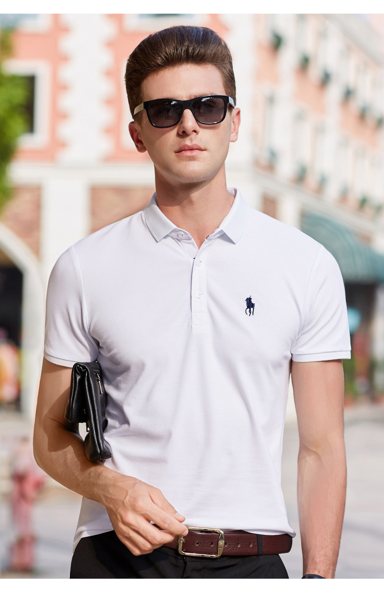 Hombre Small Pony Polo Top Men Short Sleeve Casual Rugby  Shirt Camisa Embroidered Polo Masculine Asia Size