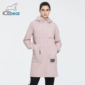 Image 2 - جديد لعام 2020 من ICEbear معطف طويل للنساء جاكيت عالي الجودة للنساء ملابس غير رسمية للنساء ماركة ملابس نسائية GWC20727I