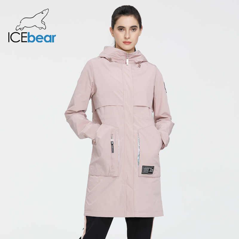 Beruang Es 2020 Baru Wanita Mantel Panjang Jaket Wanita Kualitas Jaket Wanita Fashion Kasual Wanita Pakaian Merek Wanita Pakaian GWC20727I