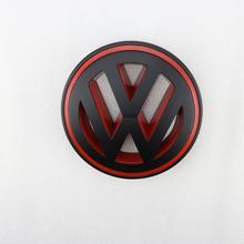 150mm Matt Black Red Front Grill Car Logo Badge Replacement Emblem for VW Volkswagen Passat CC Golf MK5