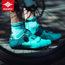 Santic MTB obuwie rowerowe Ultralight buty na rower górski z włókna węglowego 2019 mężczyźni Pro Team oddychające buty samoblokujące rowerowe tanie tanio Syntetyczny Średnie (b m) Hook loop Dla dorosłych Pasuje prawda na wymiar weź swój normalny rozmiar MTB Cycling Shoes