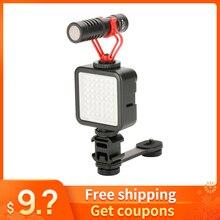 Para osmo móvel 3 acessórios de montagem do microfone cardan adaptador luz extensão suporte para zhiyun suave 4 dji osmo móvel 2