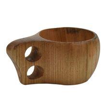 Wooden Cup Primitive Handmade Natural Wood Coffee Tea Beer Juice Milk Mug Wood-color F(150ML)