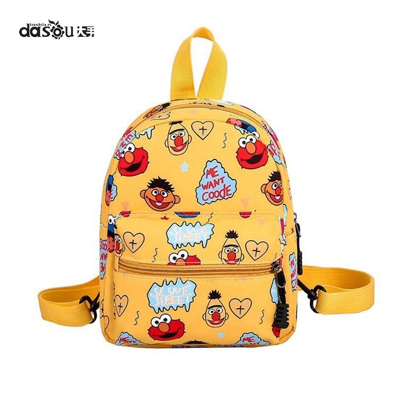 New cartoon Sesame Street Canvas Backpack children's single shoulder girl's messenger bag Children's backpack