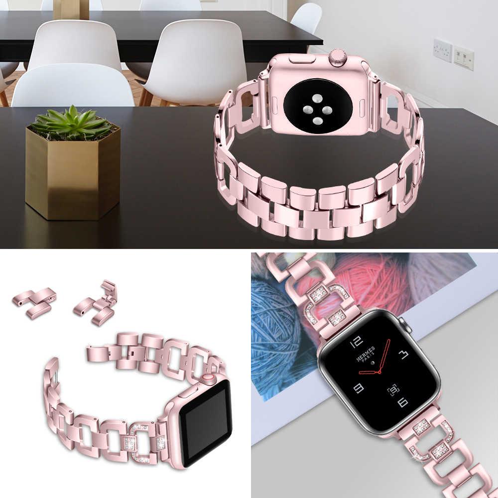 Joyzoy Fascia per Apple Serie di Orologi 4 3 2 1 Cinghia di Modo Del Braccialetto Del Polso per iWatch 38 millimetri 42 millimetri 40 millimetri 44 millimetri Cinturino