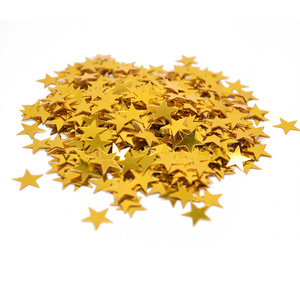 15g/Bag Gold Silver Stars Sequins 6mm 10mm Acrylic Laser Confetti Sprinkles Table Scatters for Wedding Birthday Party Decoration