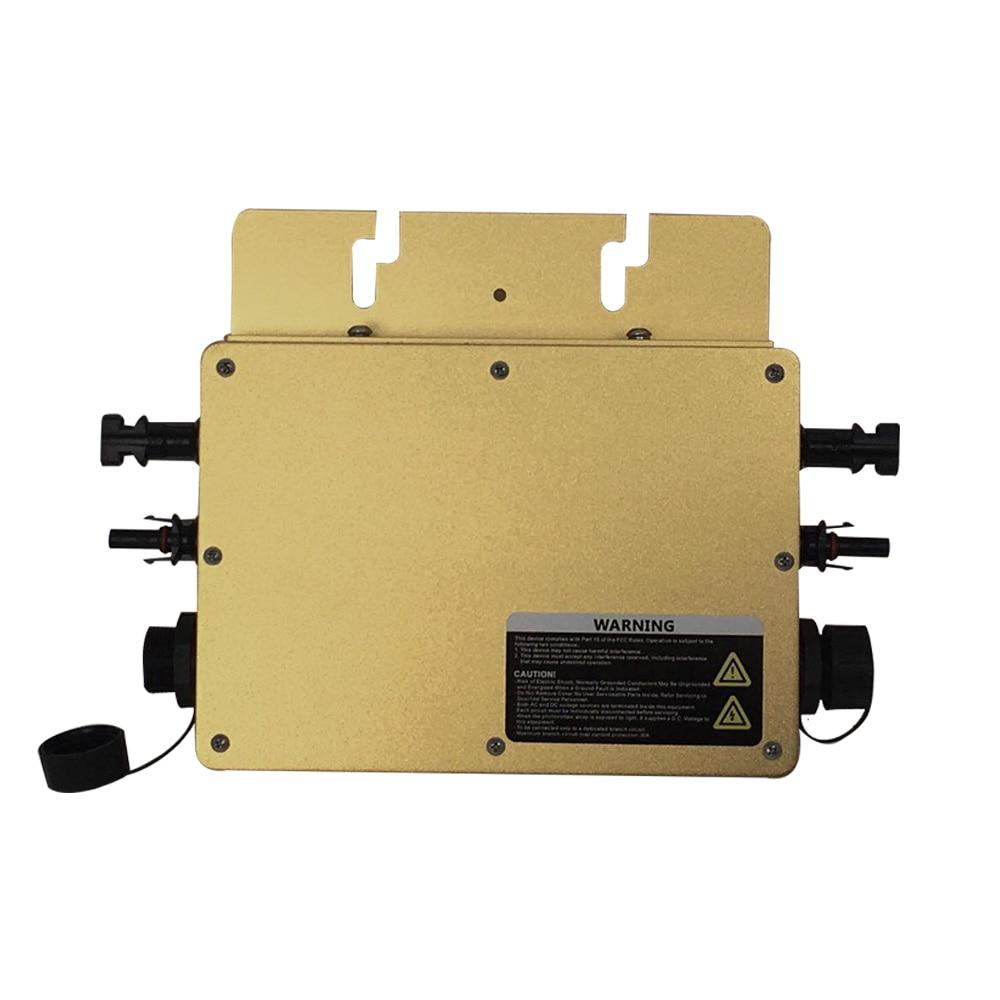 Micro Solar 600W inwerter czysta fala sinusoidalna MPPT na inwerter sieciowy pojedyncze połączenie trójfazowe dla 2*300W Panel słoneczny