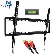 TV duvara monte devirme braketi 37 70 inç LED LCD tvler kadar VESA 600x400mm ve 77LBS yükleme kapasitesi TV askısı HDMI kablosu ile
