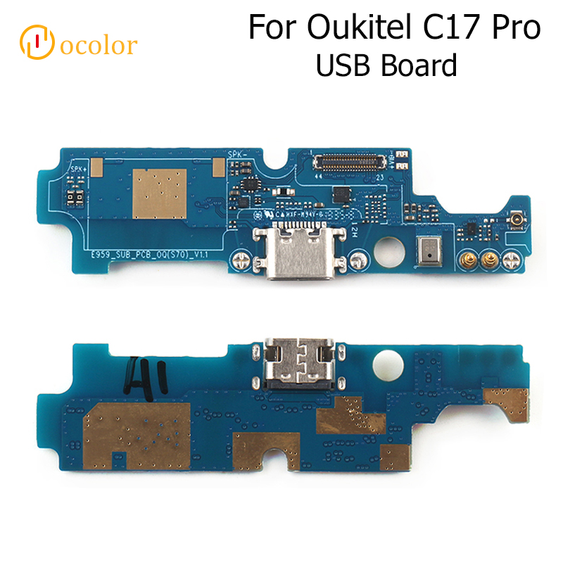 Ocolor For Oukitel C17 Pro USB Board For Oukitel C17 Pro Replacement Parts USB Plug Charge Board High Quality Phone Accessories