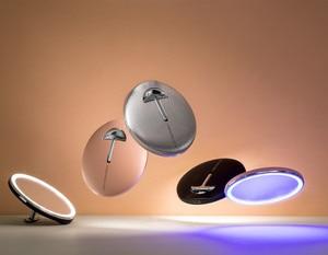 Image 2 - Youpin jordan & judy hd led espelho de maquiagem cor luz mini controle toque portátil sensing espelho cosméticos beleza maquiagem ferramenta