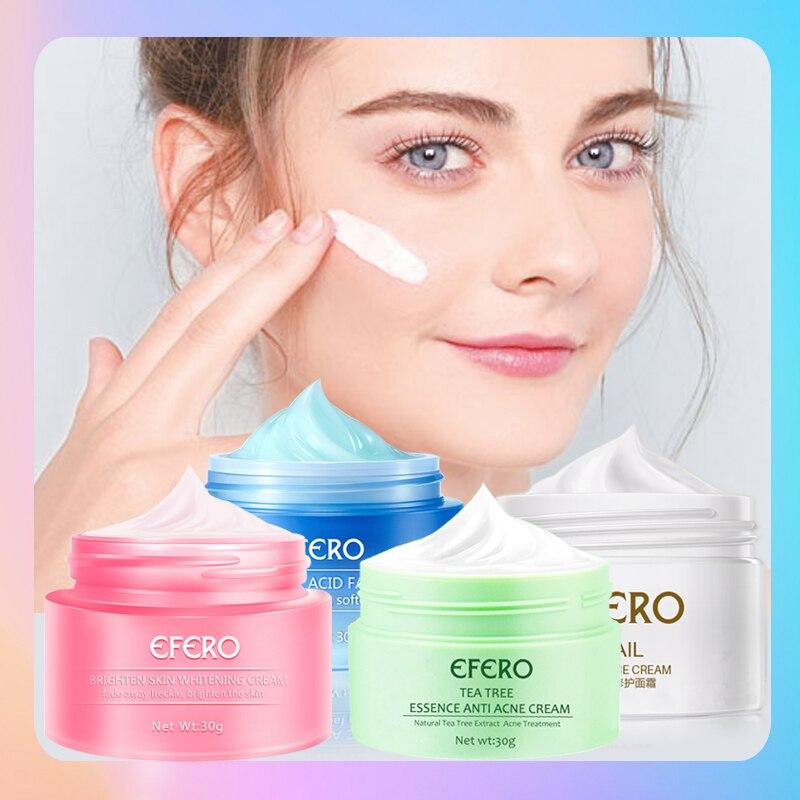 4pcs Snail Cream Skin Whitening Lifting Face Cream Repair Acne Treatment Moisturizing Anti Wrinkles Hyaluronic Aicd Face Cream