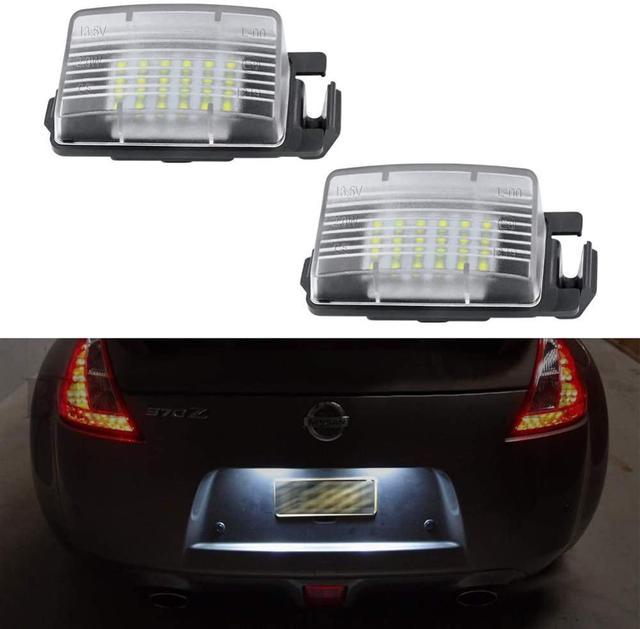 $ 15.39 2Pcs LED License Plate Light Lamp Assembly For Nissan 350Z 370Z GT-R Versa Cube Leaf & Infiniti G25 G35 G37 Q40 Q60 6500K White