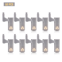 10PCS LED Light Universal Inner Hinge Under Cabinet Light Wardrobe Light Sensor Lamp Led For Cupboard Closet Kitchen Bedroom(China)