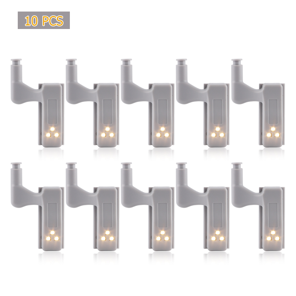 5PCS Intelligent Cabinet Lights Cupboard Closet Wardrobe Door Inner Hinge LED Sensor Lamp Night Light For Kitchen Bedroom
